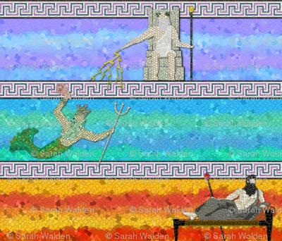 Greek Myth Mosaic ~ Enlarge To See Mosaic Details