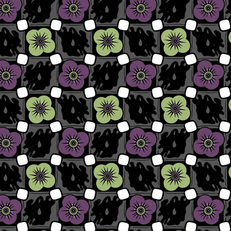 Pop Comic Poppies fabric by eppiepeppercorn on Spoonflower - custom fabric