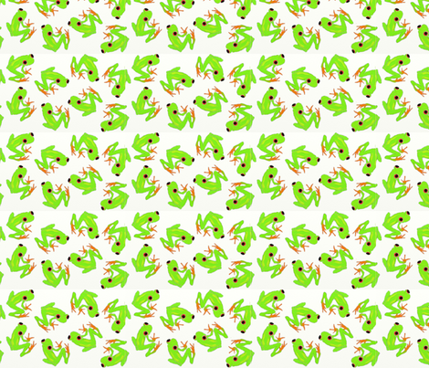 Green_Frogs fabric by 3o'clockbadger on Spoonflower - custom fabric