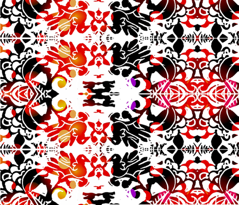 kissing_birds-ed-ed-ed fabric by cherb on Spoonflower - custom fabric