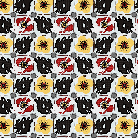 Pop Go The Poppies fabric by eppiepeppercorn on Spoonflower - custom fabric