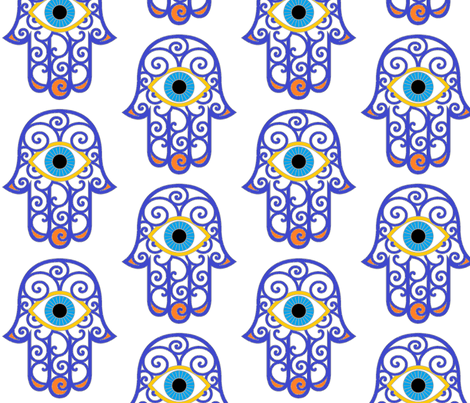 hamsa_2 fabric by zedralz on Spoonflower - custom fabric