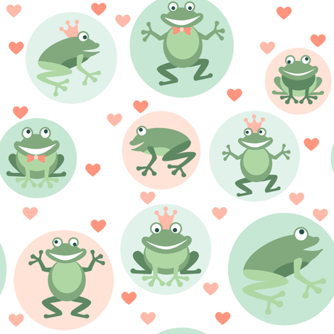 Frog prince fabric by heleenvanbuul on Spoonflower - custom fabric