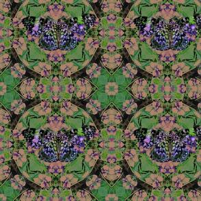 Violet butterfly design 5694