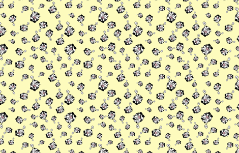And the Cow Says Mu - Yellow fabric by studiofibonacci on Spoonflower - custom fabric