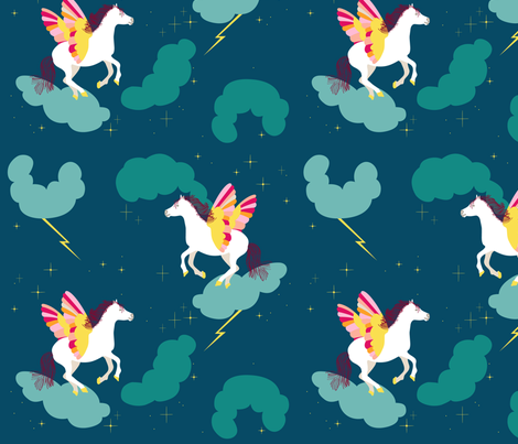 pegasus fabric by pragya_k on Spoonflower - custom fabric