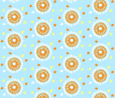 Hawaii Sunbursts fabric by artthatmoves on Spoonflower - custom fabric