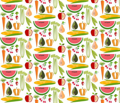 farm stand - large fabric by kurtcyr on Spoonflower - custom fabric