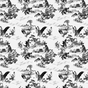 Godzilla & Friends toile (black)