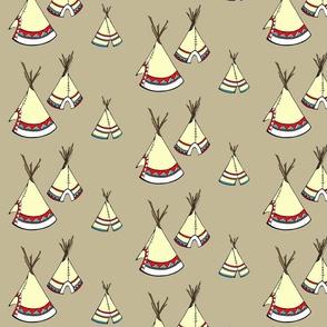 Teepee-burlap