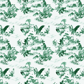 Godzilla & Friends toile (green)