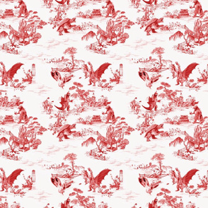 Godzilla & Friends toile (red)