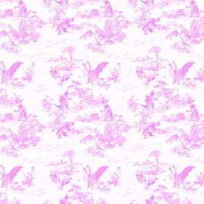 Godzilla & Friends toile (pink)