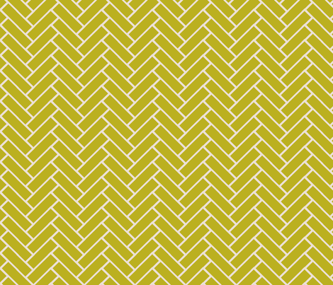 herringbone wasabi and champagne fabric by ninaribena on Spoonflower - custom fabric
