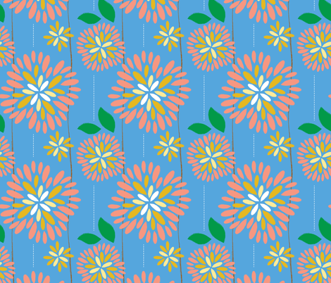 Picnic Flowers fabric by sealemon on Spoonflower - custom fabric