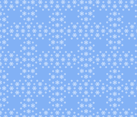 Blue Snowflake Weave ©2013 by Jane Walker fabric by artbyjanewalker on Spoonflower - custom fabric
