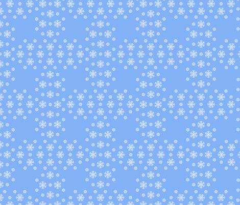 Blue Snowflake Weave ©2013 by Jane Walker fabric by artbyjanewalker on Spoonflower - custom fabric