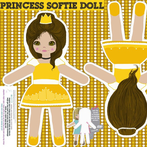belle doll-cut and sew template