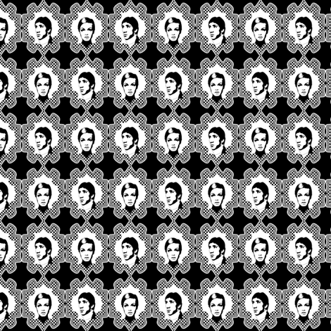 pete_and_twiggy_black_and_white fabric by susiprint on Spoonflower - custom fabric
