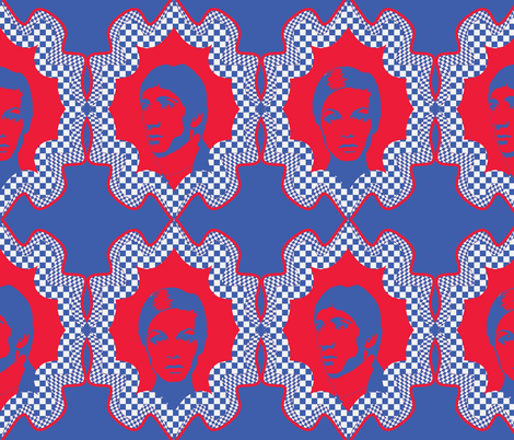 pete_and_twiggy_blue_red fabric by susiprint on Spoonflower - custom fabric