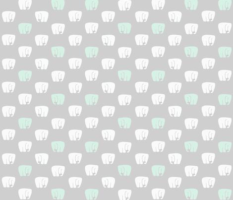 Elephants all around fabric by kathrynzaremba on Spoonflower - custom fabric