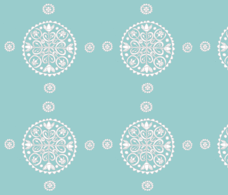 Lotus Flower Circle fabric by artthatmoves on Spoonflower - custom fabric