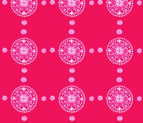 Pink Whimsical Lotus Mandala fabric by artthatmoves on Spoonflower - custom fabric