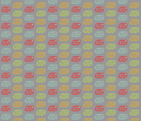 Did you ride an elephant? Gray fabric by jara_by_jacki on Spoonflower - custom fabric