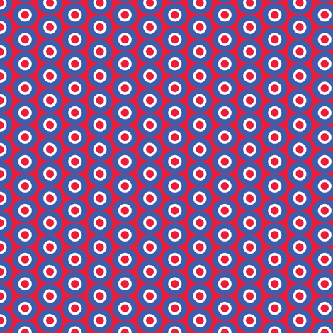 dots_on_red fabric by susiprint on Spoonflower - custom fabric
