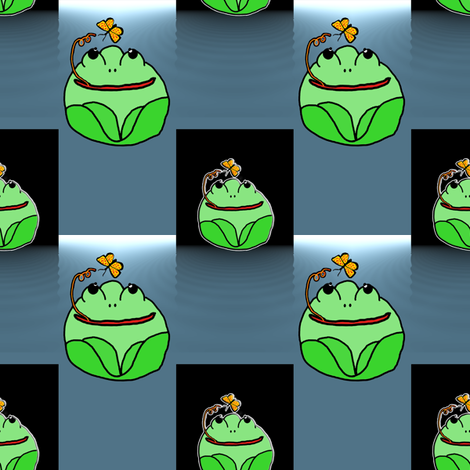 Frogs Floating on Water