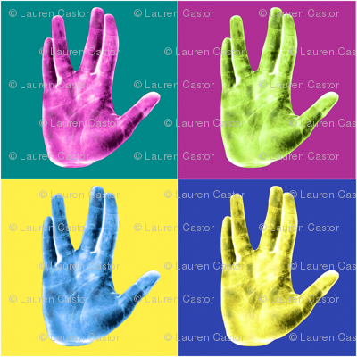 Pop Art Vulcan Greeting