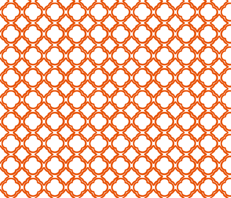 Penny's Trellis Tangerine fabric by lulabelle on Spoonflower - custom fabric