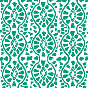 Cobblestone Trellis Emerald Reverse