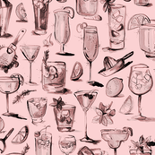 CocktailPattern in Pink
