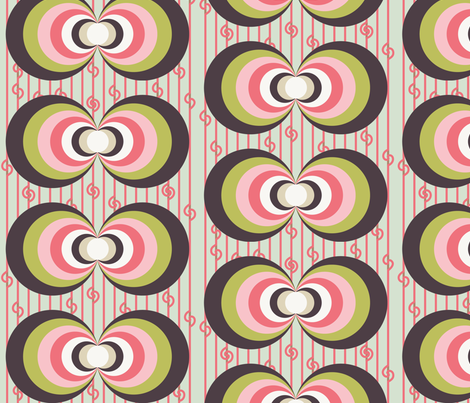 Earth's Magnetic Field - Pink fabric by owlandchickadee on Spoonflower - custom fabric