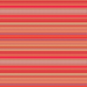 coral and peach stripes