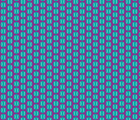 Small Half-Drop Teal/White Tennis Balls fabric by audreyclayton on Spoonflower - custom fabric