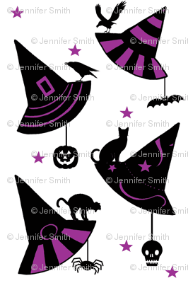 Hanging Decor w/Stars - white/ purple