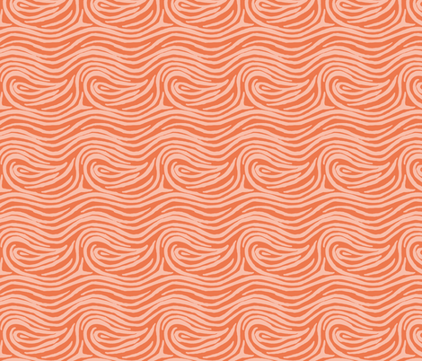 hurly-swirly-orange fabric by blotchandthrum on Spoonflower - custom fabric