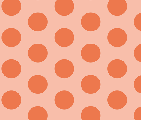 monsterdot-orange fabric by blotchandthrum on Spoonflower - custom fabric