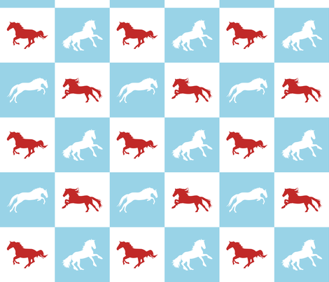 Horse Chess Fresh fabric by smuk on Spoonflower - custom fabric