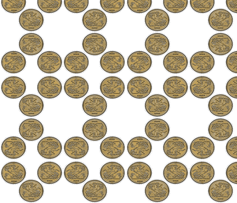 gold_coin1_ fabric by playbox_ on Spoonflower - custom fabric