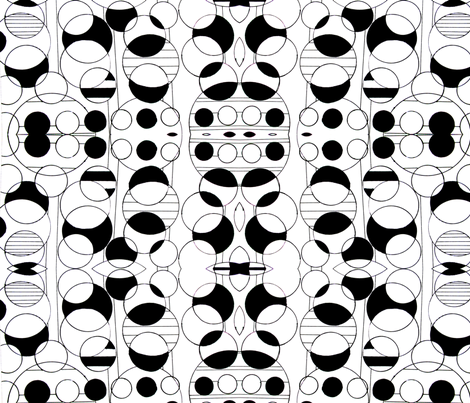 Black and White Oreos fabric by bettinablue_designs on Spoonflower - custom fabric