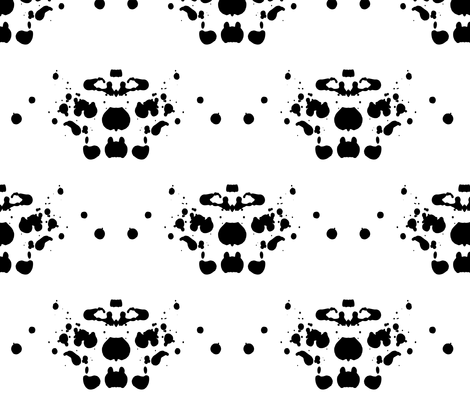 Rorschach Blot 1 fabric by candyjoyce on Spoonflower - custom fabric