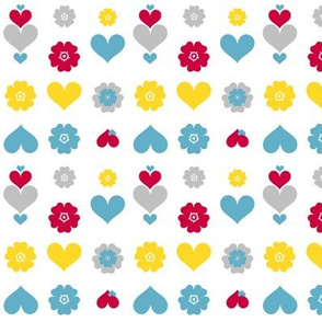 Hearts &amp; Flowers! - Sweet Birds of Summer - Summer Party! -  PinkSodaPop 4ComputerHeaven.com  