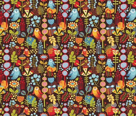 Owly. fabric by panova on Spoonflower - custom fabric