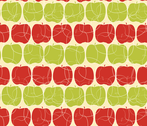 rows of apples fabric by kociara on Spoonflower - custom fabric