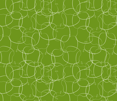 apples on green fabric by kociara on Spoonflower - custom fabric