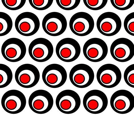 red, black and white scuwif fabric by cosmicbreed on Spoonflower - custom fabric