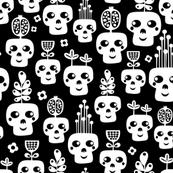 Funny skull vases.